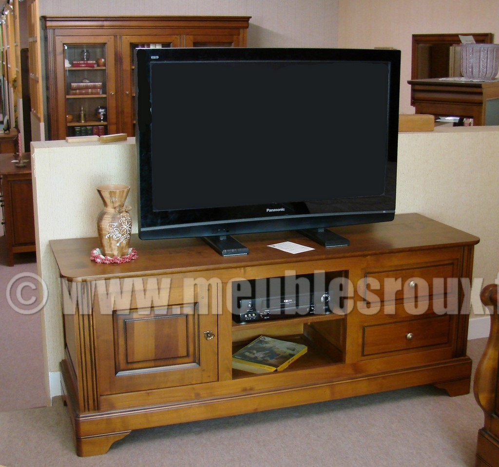 meuble tv louis philippe. Black Bedroom Furniture Sets. Home Design Ideas