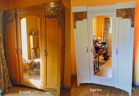 Relooking armoire chêne